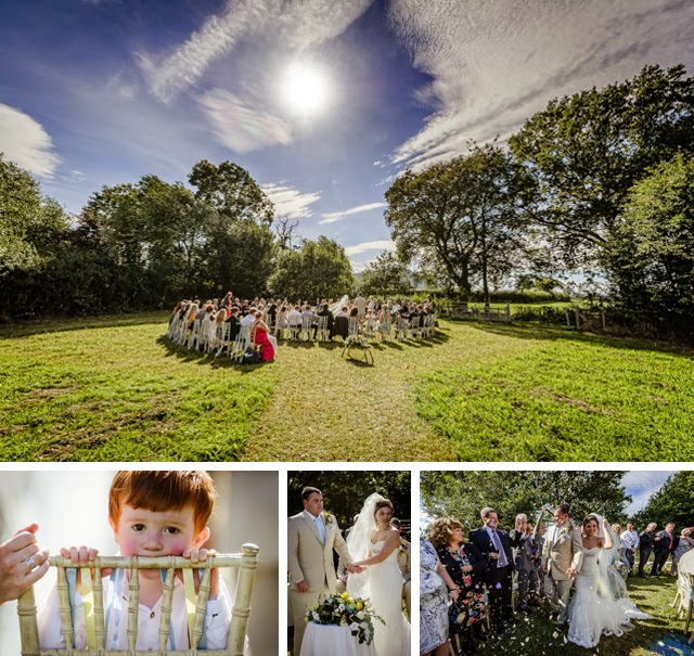 Outdoor ceremony, tipi and yurt wedding