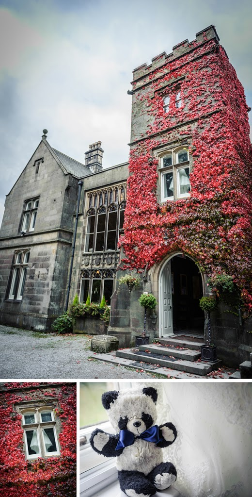 Hargate Hall wedding red ivy
