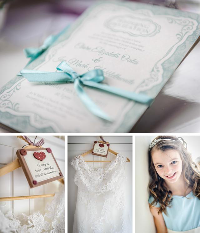 wedding invite and dress