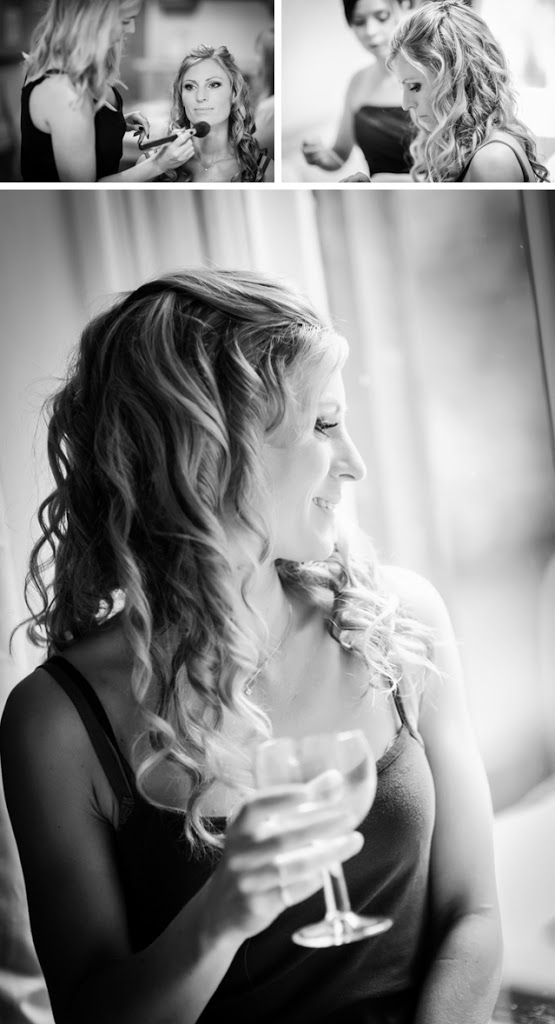 bridal prep black and white hargate hall