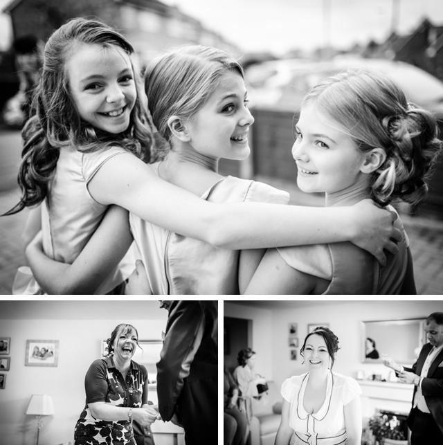 smiles at wedding