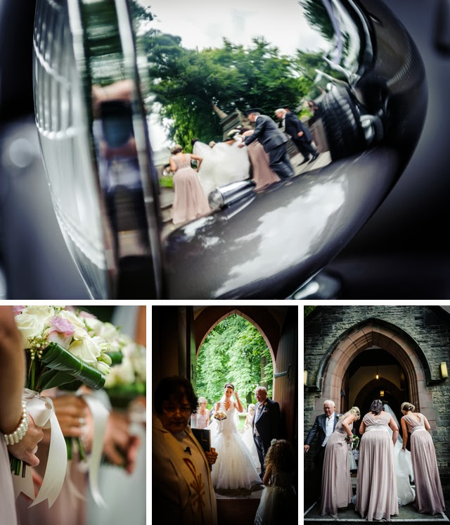 arrival of bride at church
