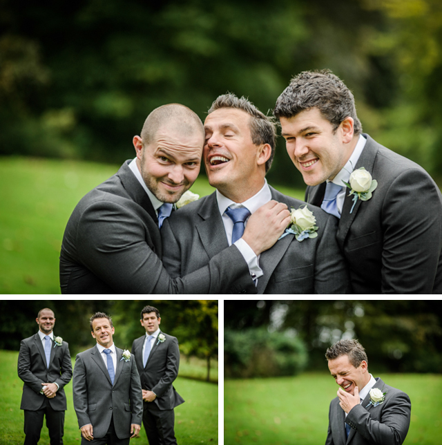 wedding groomsmen blue ties
