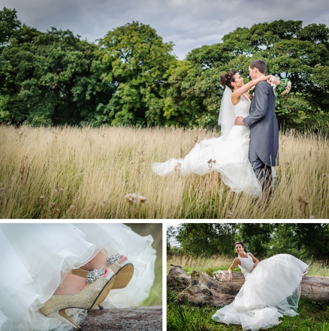 wedding shoes and wedding portriats
