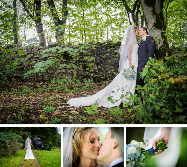 Hargate Hall wedding in trees