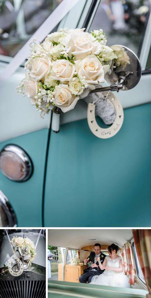 camper van and bouquet