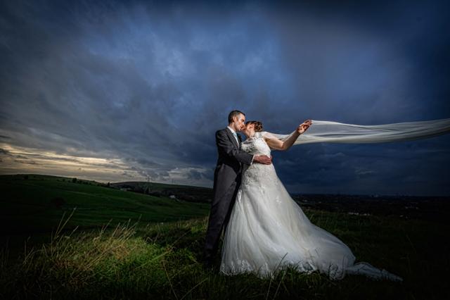 White hart wedding photography evening light