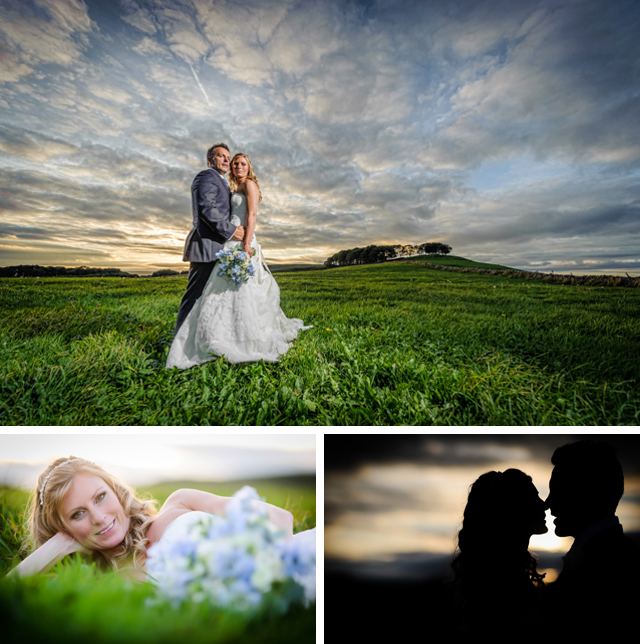 Peak District wedding sunset