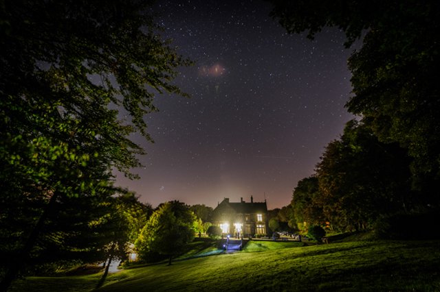 Hargate Hall wedding night time