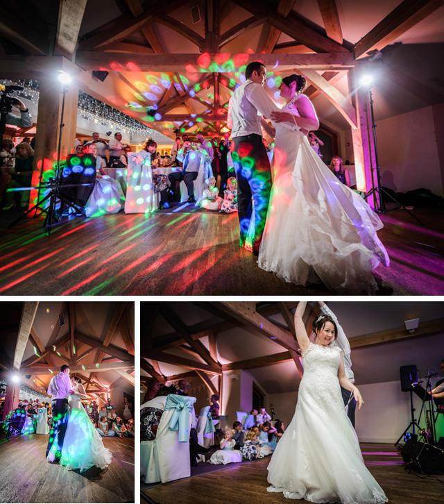 First dance White Hart Lydgate wedding
