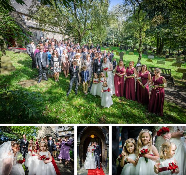 wedding group shot at church