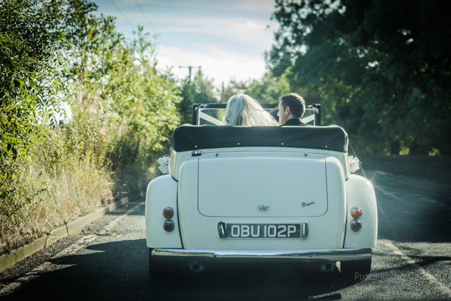 wedding car summer top down
