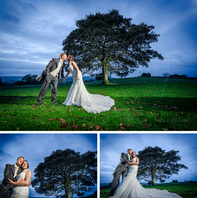 evening wedding photography heaton house farm