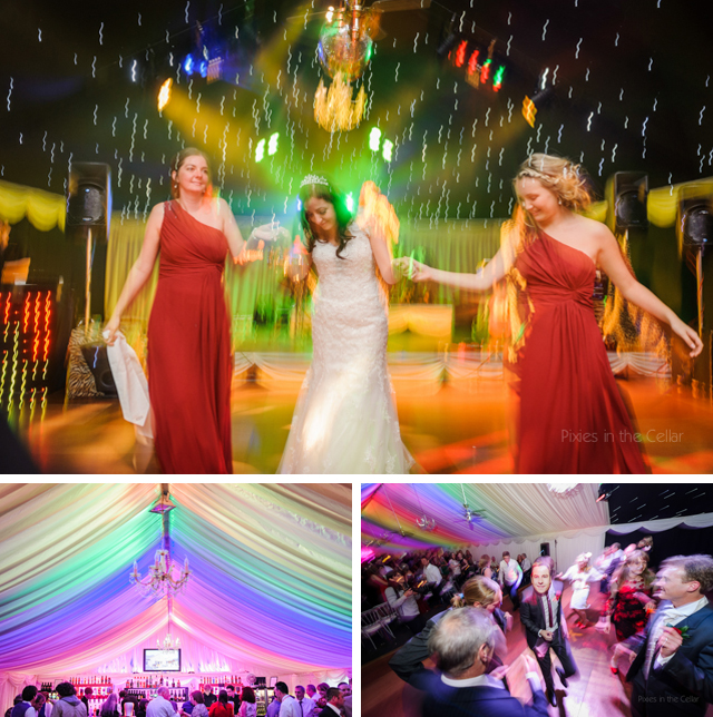 heaton house farm wedding night time