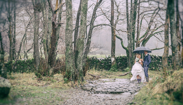 Lake district winter wedding