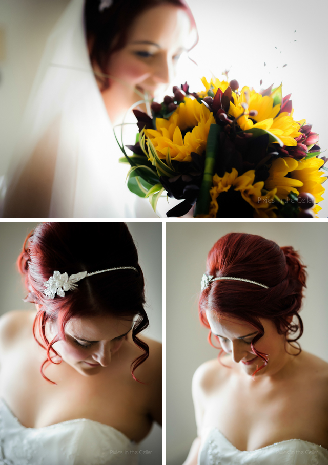 autumn wedding red hair bride