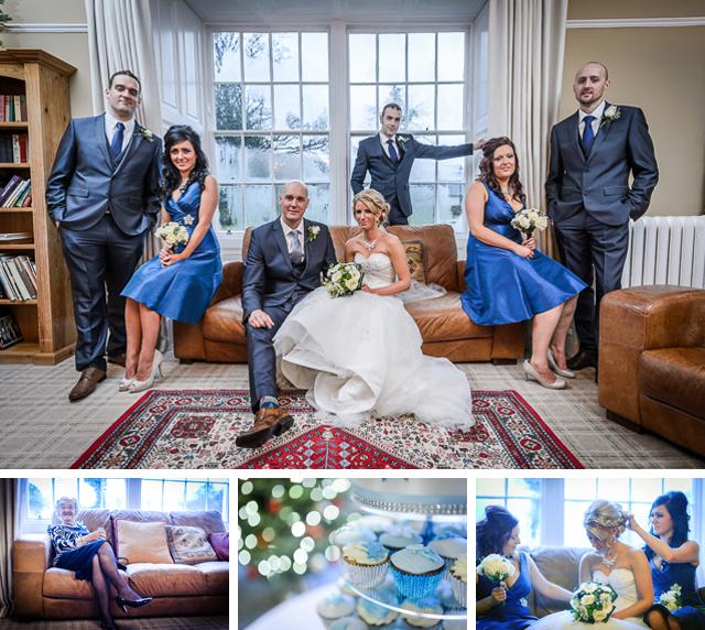Dale Lodge hotel rainy wedding blue theme