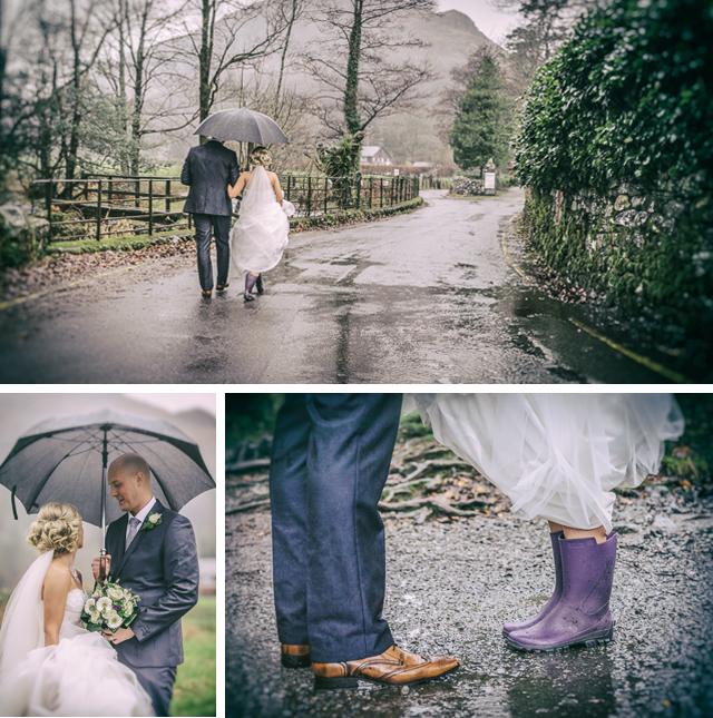 Rainy winter wedding, Grasmere - Lake District
