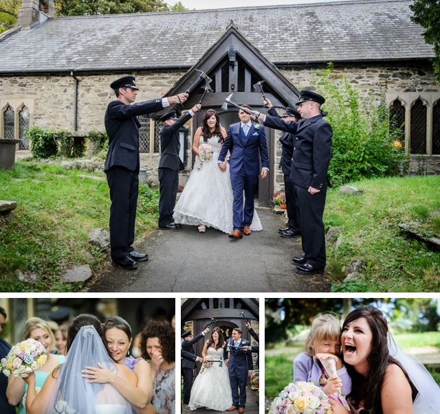 North Wales Wedding, Firemen's axe arch