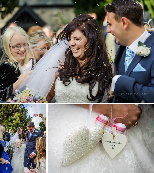 wedding confetti wales
