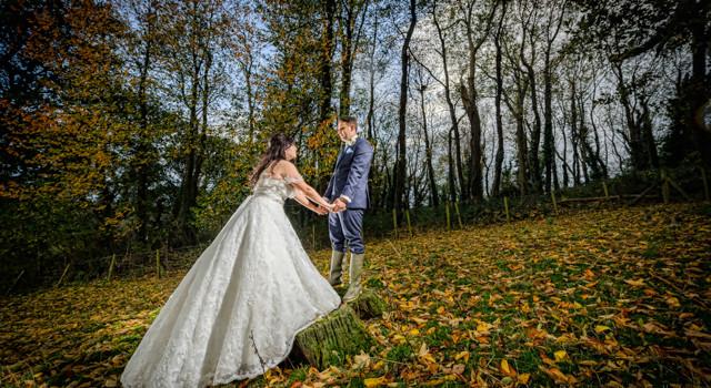 DIY wedding autumn wales