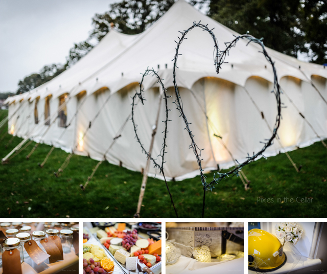 DIY wedding marquee Wales
