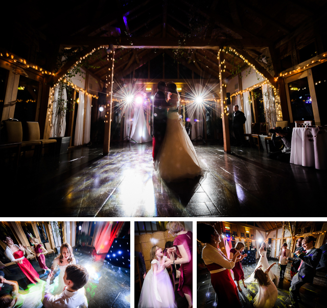 First dance winter wedding at Peover golf club