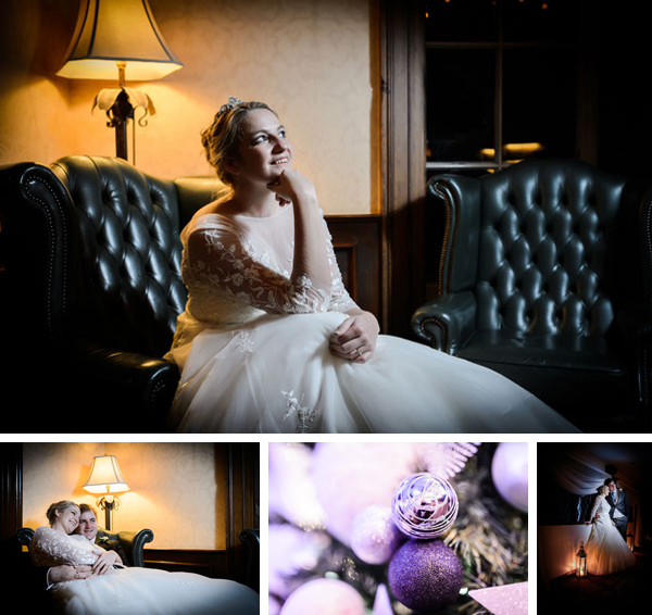Winter Bride Shrigley Hall Cheshire