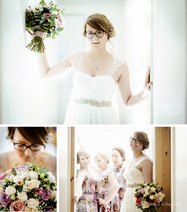 Bride in glasses