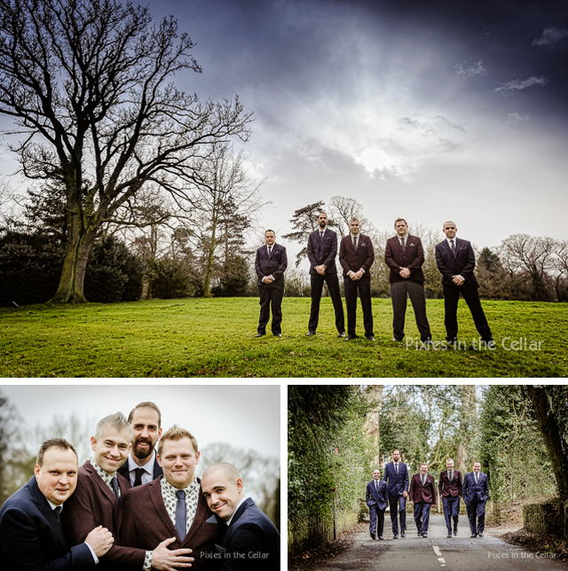 Rowton Hall Wedding - the boys!