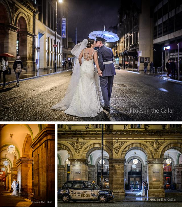 Manchester evening wedding photographs