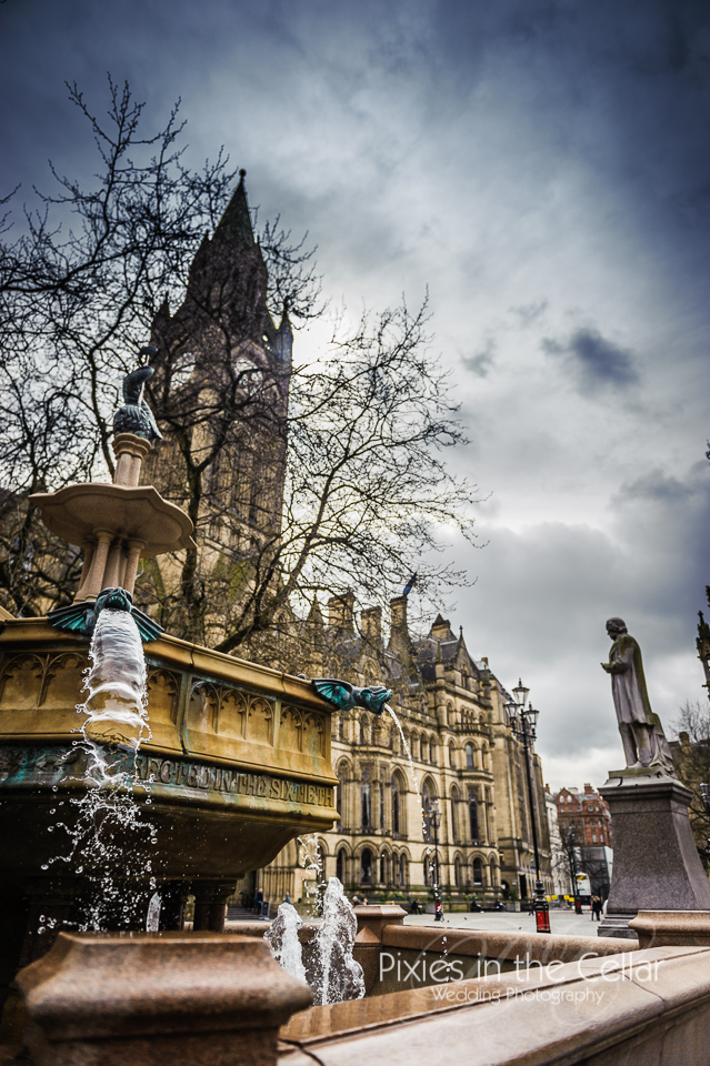 Fountain manchester town hall