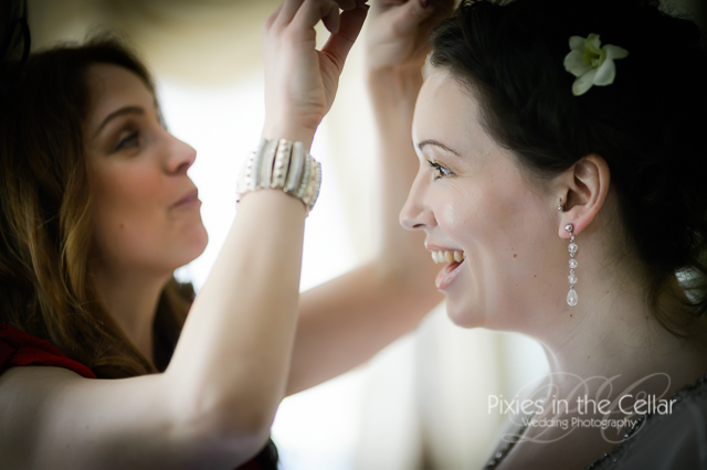 wedding hair finishing touches
