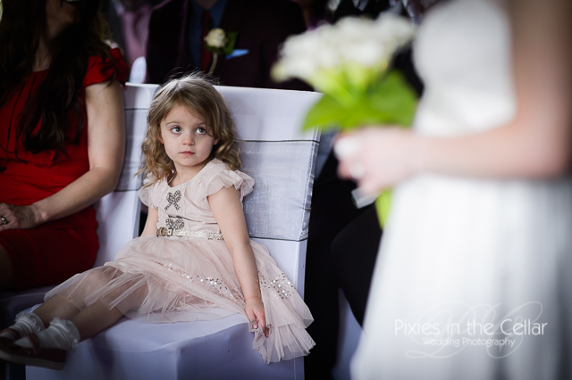 girl in wedding ceremony
