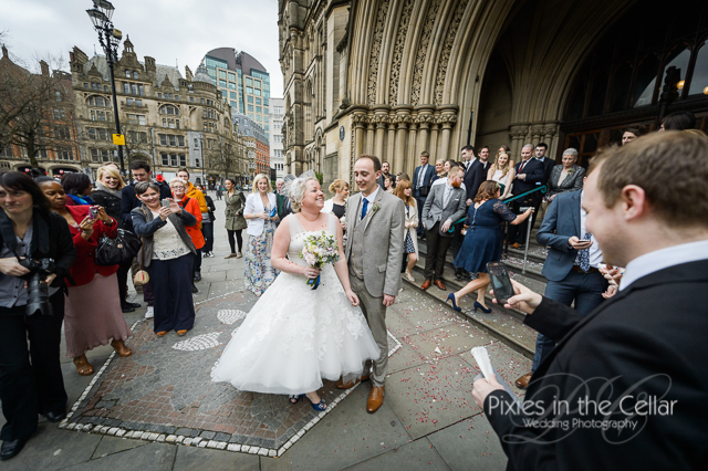 Just married wedding manchester town hall