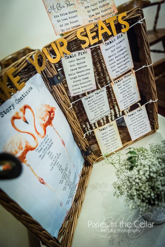 basket wedding table plan