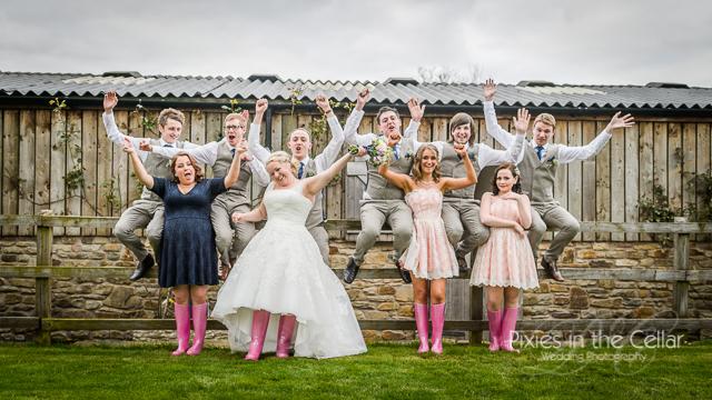 bridal party hyde bank farm