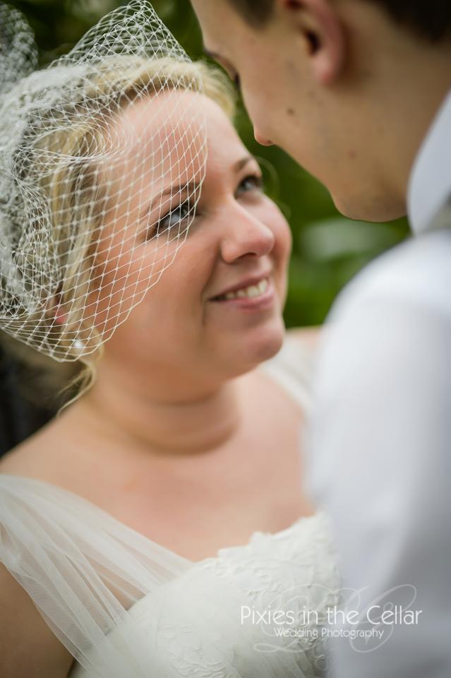 bridcage veil bride
