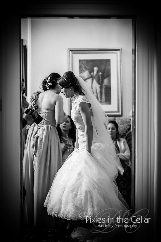 bride through doorway