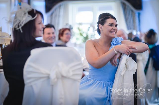 light blue bridesmiad