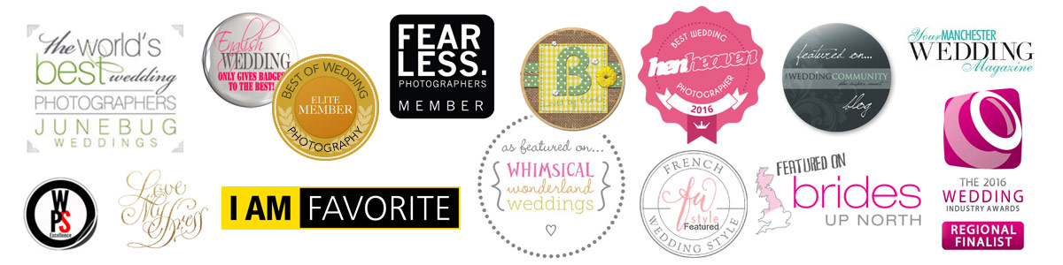Manchester UK wedding photographers awards accolades