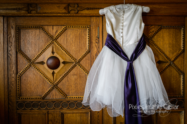 flower girl dress ivory and purple