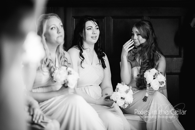 crying bridesmaids
