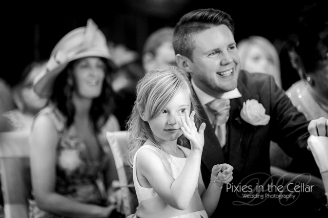 flower girl and groomsman
