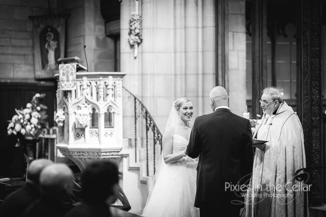 wedding ceremony black and white
