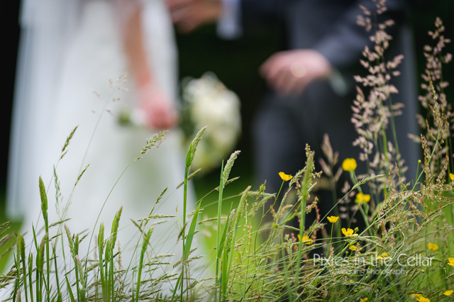 grass and buttercups wedding pic