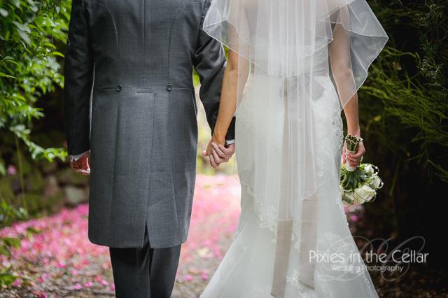 Mere court hotel wedding holding hands