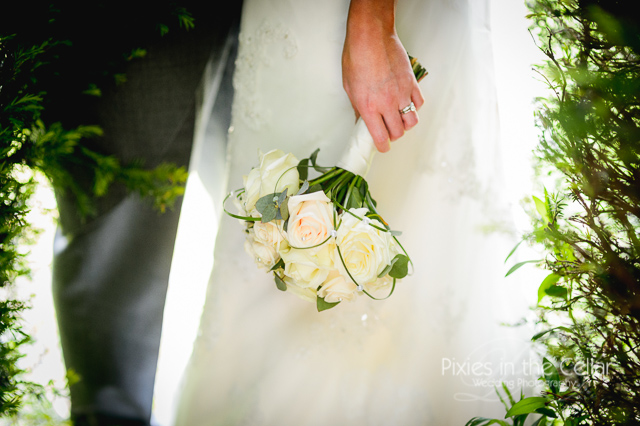 white rose bride bouquet