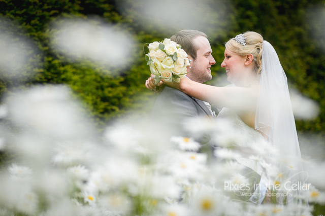wedding photo daisies