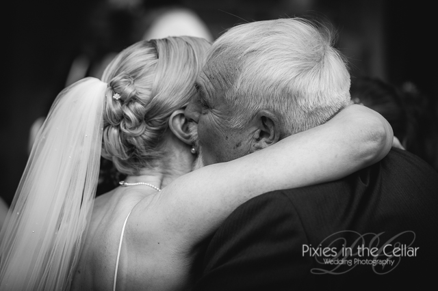 bride hugs man